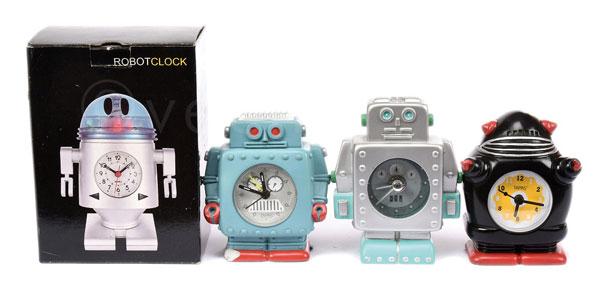 GRP inc  Robot Alarm Clocks. Quartz movement