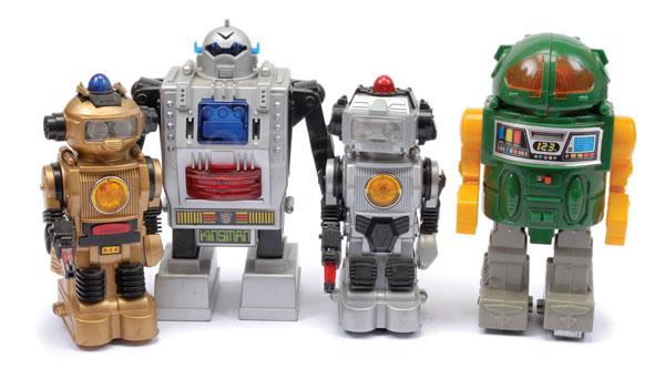GRP inc  4 Taiwanese Battery Operated Robots