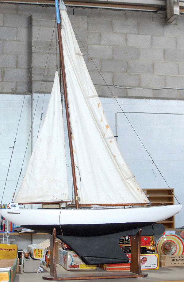 Large Wooden Pond Yacht