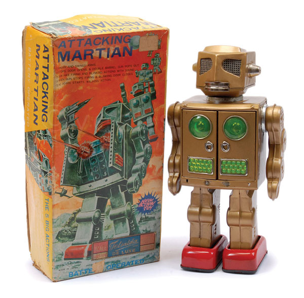 SH Toys (Japan) Attacking Martian. Tinplate