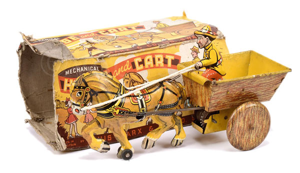Marx (UK) Mechanical Horse and Cart. Tinplate