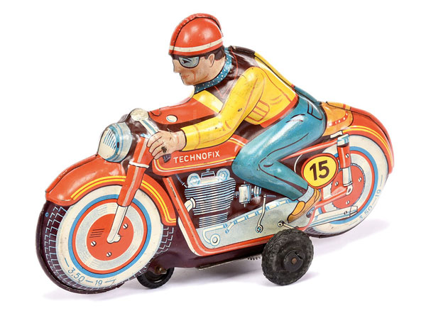 Technofix (Germany) Racing Motorcycle. Tinplate