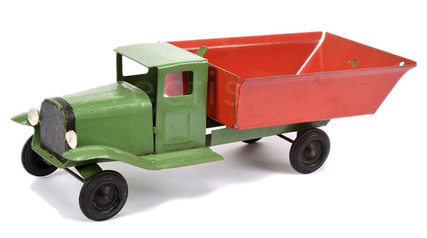 Triang (UK) Pressed Steel Tipper Truck. Green