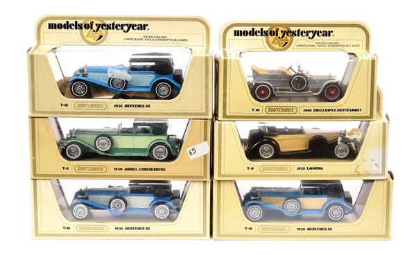 GRP inc Matchbox Models of Yesteryear Cars