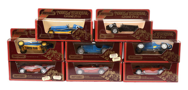 GRP inc Matchbox Models of Yesteryear GP Cars