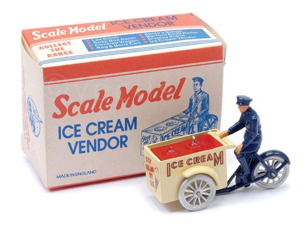 Matchbox Scale Model Ice Cream Vendor - cream