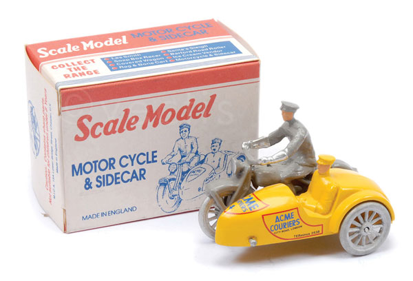 Matchbox Scale Model Motorcycle and Sidecar