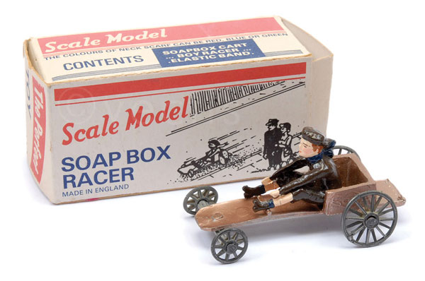 Matchbox Scale Model Soap Box Racer - bronze