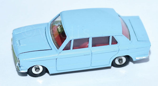Dinky unboxed No.162 Triumph 1300 pale blue, red