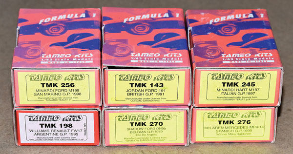 GRP inc Tamiya Formula 1 boxed kit No.TMK143