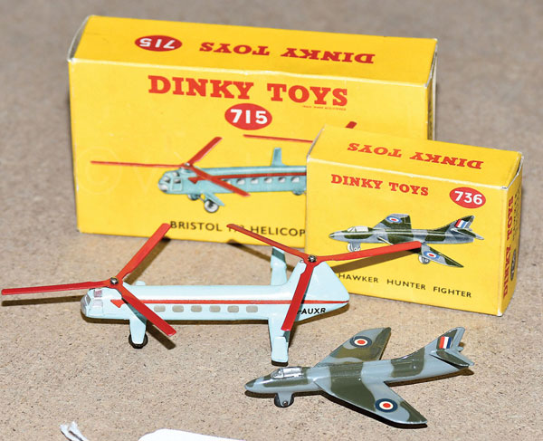 PAIR inc Dinky boxed No.715 Bristol 173