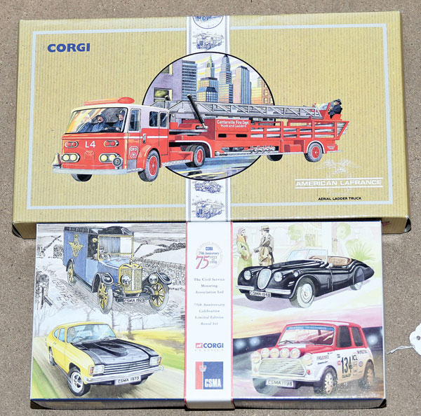 PAIR inc Corgi boxed pair. No.05505 CSMA 75th