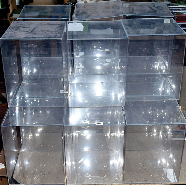 GRP inc clear perspex cases - each case is 34cm