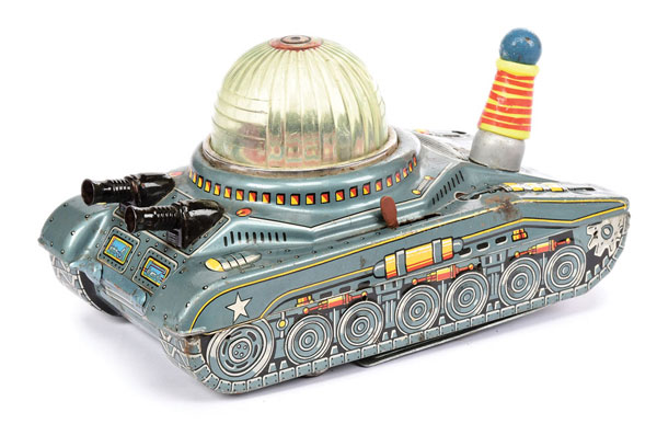 Daiya (Japan) battery operated Space Tank - pale