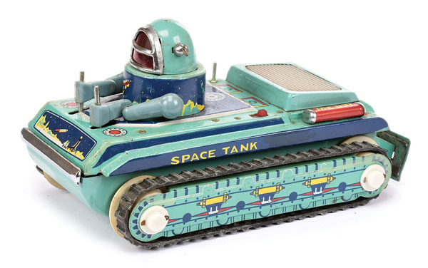 Chinese made tinplate battery operated Space