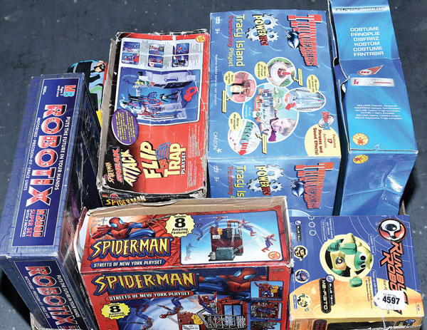 GRP inc Thunderbirds, Spiderman, Captain Scarlet