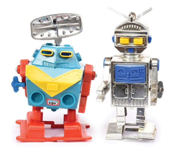 PAIR inc early plastic Robots (1) Radar Robot