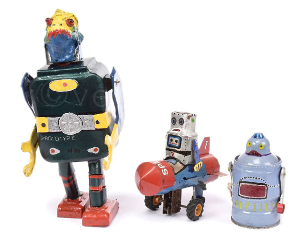 GRP inc reworked rare metal Robot figures