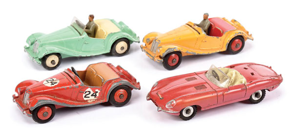 GRP inc Dinky Sports Cars - MG Midget Models