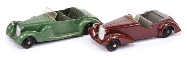 PAIR inc Dinky Post-war Cars (1) Alvis - maroon