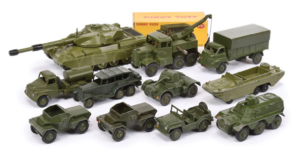 GRP inc Dinky mainly unboxed Military Vehicles