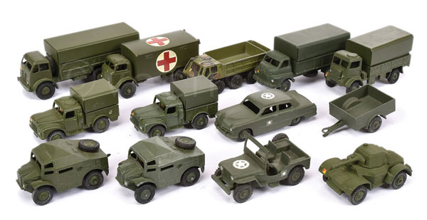 GRP inc Dinky repainted Military Vehicles