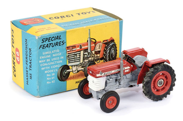 Corgi No.66 Massey Ferguson 165 Tractor - red