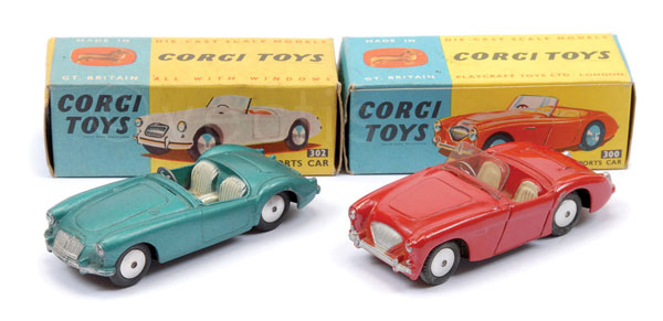 PAIR inc Corgi Sports Cars (1) No.300 Austin
