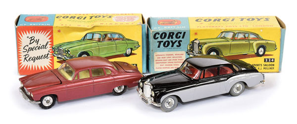 PAIR inc Corgi boxed Cars (1) No.224 Bentley