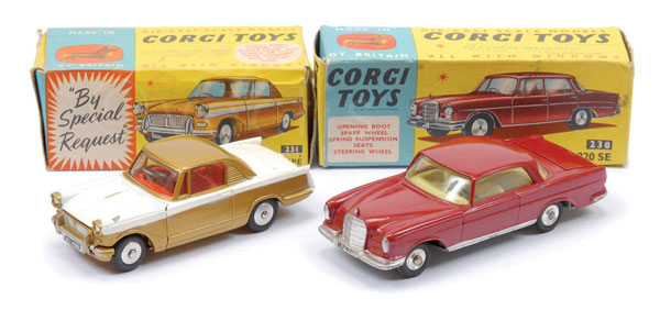 PAIR inc Corgi boxed Cars (1) No.231 Triumph