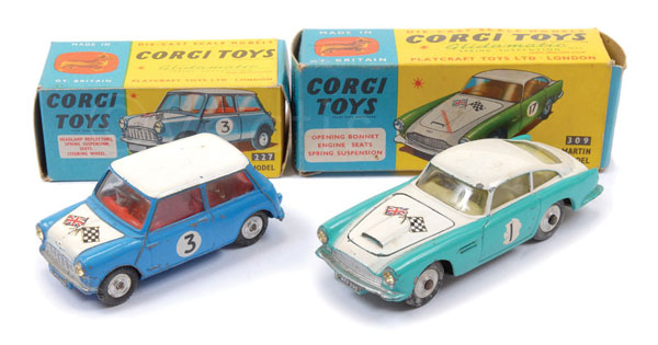 PAIR inc Corgi Cars in competition finish