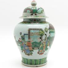 China Porcelain Famille Verte Decor Vase