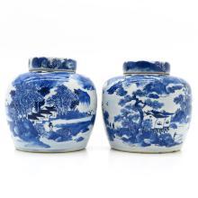 Lot of 2 China Porcelain Ginger Jars
