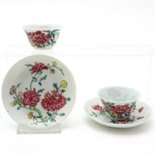 Lot of China Porcelain Cup and Saucer