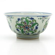 China Porcelain Wucai Decor Bowl