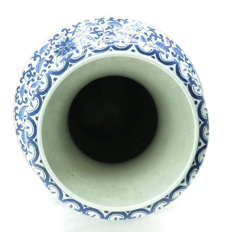 china porcelain blue and white decor vase. Black Bedroom Furniture Sets. Home Design Ideas