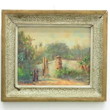 Singed H. Rietberg Indonesian Painting