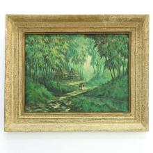 Singed Indonesian Painting