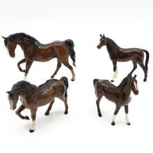Lot of 4 Beswick, Goebel and Royal Doulton Horses