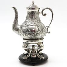 Dutch Silver R.J. Spaanstra Wommels Kettle Circa 1800