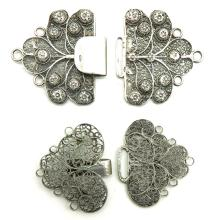 Lot of 2 Silver South Bevelands Clasps
