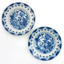 Lot of 2 Delft Plates