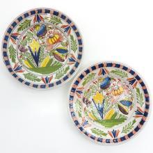 Lot of 2 19th Century Tichelaar Plates