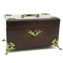 19th Century Jewelry Box with Bronze Mounting