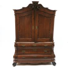 19th Century Double Serpentine Cabinet