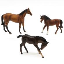 Lot of 3 Porcelain Horses