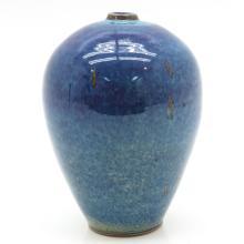 Singed Flambe Decor Vase