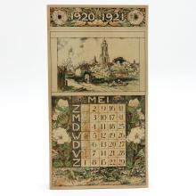 Dutch 1920 / 1921 Calendar