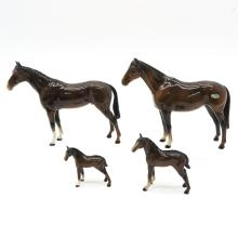 Lot of 4 Porcelain Beswick and Royal Doulton Horses