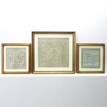 Lot of 3 Needlepoint Samplers